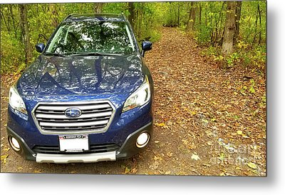 Metal Print featuring the photograph Subaru Touring Off The Beaten Path by Ricky L Jones