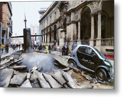 Submarine Accident Metal Print