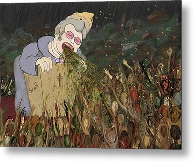 Submit The Bee Lady Metal Print by Phil Vance