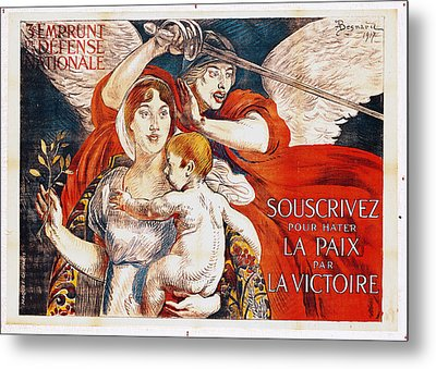 Subscribe To Hasten Peace By Victory Metal Print by Paul Albert Besnard