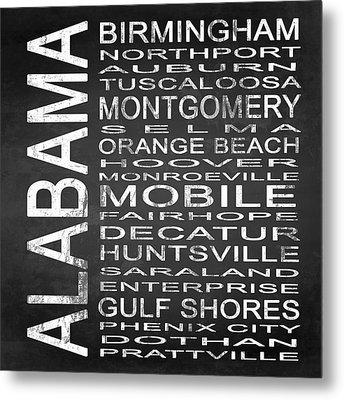 Subway Alabama State Square Metal Print by Melissa Smith