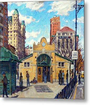 Subway At 72nd Street Nyc Metal Print by Thor Wickstrom