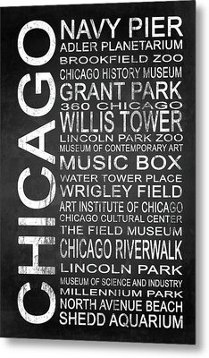 Subway Chicago 1 Metal Print by Melissa Smith