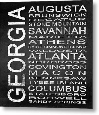 Subway Georgia State Square Metal Print by Melissa Smith