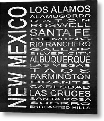 Subway New Mexico State Square Metal Print