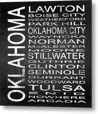 Subway Oklahoma State Square Metal Print by Melissa Smith