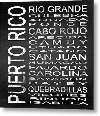 Subway Puerto Rico Square Metal Print by Melissa Smith