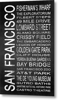 Subway San Francisco 2 Metal Print