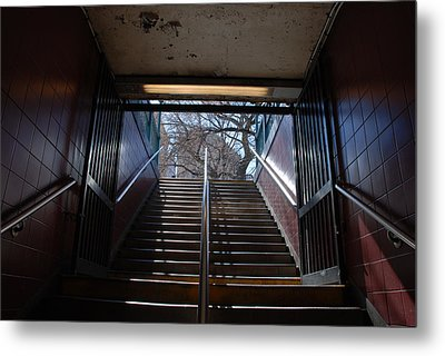 Metal Print featuring the photograph Subway Stairs To Freedom by Rob Hans