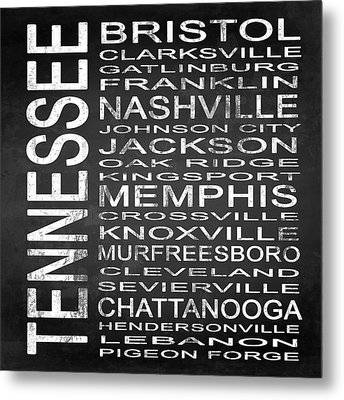 Subway Tennessee State Square Metal Print