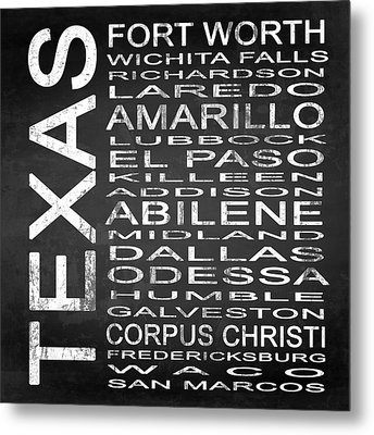 Subway Texas State 2 Square Metal Print