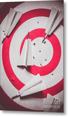 Success And Failures. Business Target Metal Print