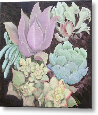 Succulants Metal Print by Irene Corey