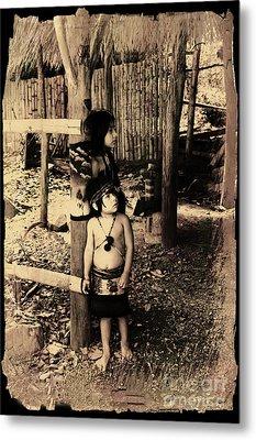 Metal Print featuring the photograph Sucua Kids 895 by Al Bourassa