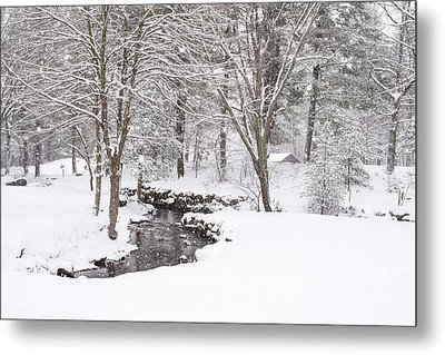 Sudbury Ma Winter Stream Metal Print by Toby McGuire