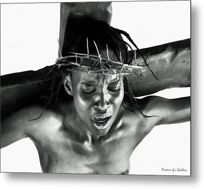 Suffering Of A Woman Metal Print by Ramon Martinez