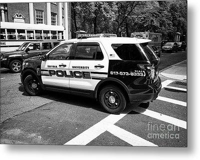 suffolk university campus police patrol vehicle Boston USA Metal Print