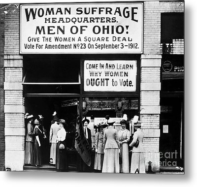 Suffrage Headquarters Metal Print by Granger