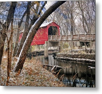 Sugar Creek Covered Bridge4  Metal Print by Marty Koch