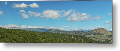 Metal Print featuring the photograph Sugar Magnolia Summer Rocky Mountain Peaks Panorama View by James BO Insogna