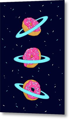 Sugar Rings Of Saturn Metal Print by Evgenia Chuvardina