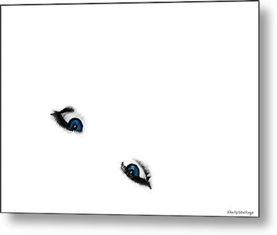 Suicide Eyes Metal Print by Shelly Stallings