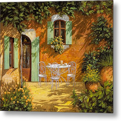Sul Patio Metal Print by Guido Borelli