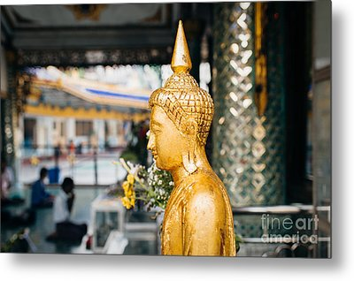 Metal Print featuring the photograph Sule Pagoda Buddha by Dean Harte
