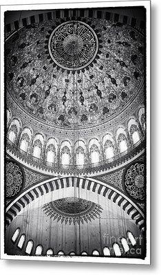Suleymaniye Ceiling Metal Print by John Rizzuto