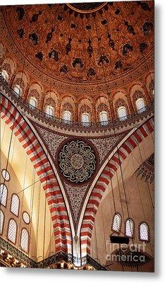 Suleymaniye Interior Metal Print by John Rizzuto