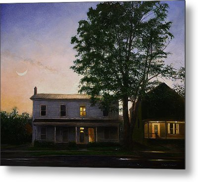 Metal Print featuring the painting Sullivan Street by Wayne Daniels