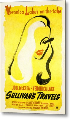 Sullivans Travels, Veronica Lake Metal Print
