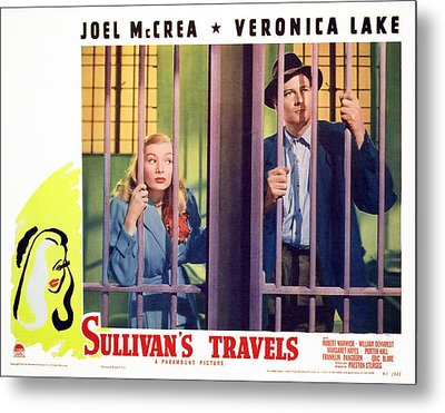 Sullivans Travels, Veronica Lake, Joel Metal Print