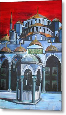 Sultan Ahmed Mosque Istanbul Metal Print