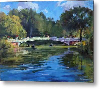 Summer Afternoon On The Lake, Central Park Metal Print