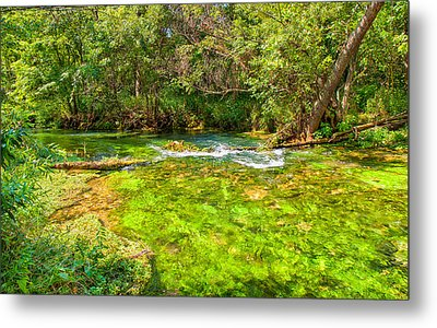 Metal Print featuring the photograph Summer At Alley Springs by John M Bailey