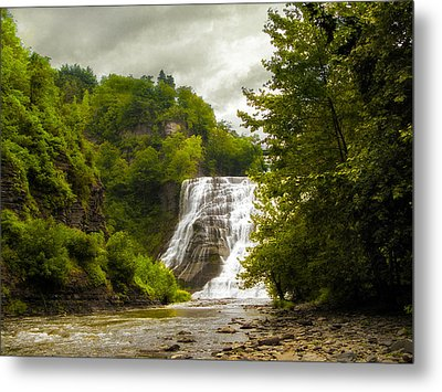 Summer At Ithaca Falls Metal Print by Jessica Jenney