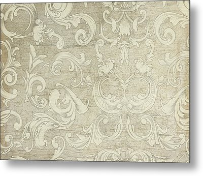 Summer At The Cottage - Vintage Style Wooden Scroll Flourishes Metal Print by Audrey Jeanne Roberts