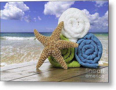 Summer Beach Towels Metal Print by Amanda Elwell