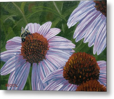 Summer Bees I Metal Print