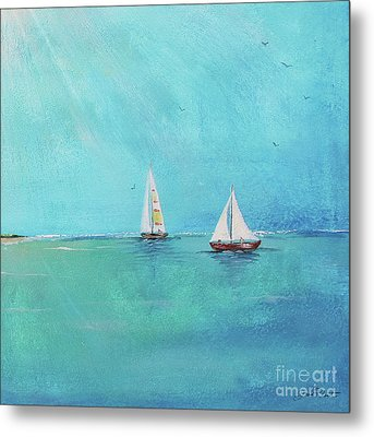 Metal Print featuring the painting Summer Breeze-e by Jean Plout