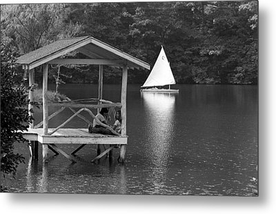 Summer Camp Black And White 1 Metal Print