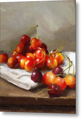 Summer Cherries Metal Print