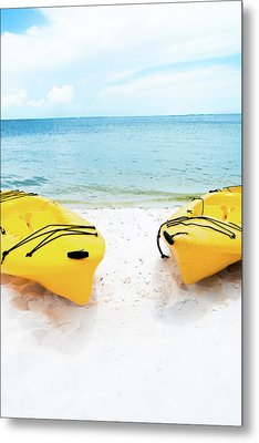 Metal Print featuring the photograph Summer Colors On The Beach by Shelby Young