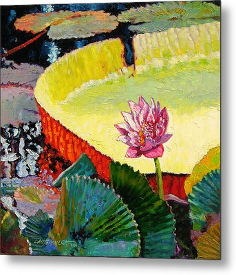 Summer Colors On The Pond Metal Print by John Lautermilch