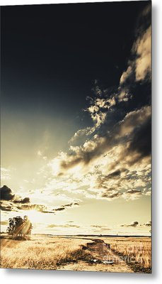 Summer Country Backroad Metal Print by Jorgo Photography - Wall Art Gallery