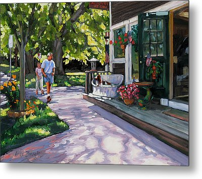 Summer Day On The Cape Metal Print by Laura Lee Zanghetti