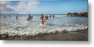 Metal Print featuring the photograph Summer Days Byron Waves by Az Jackson