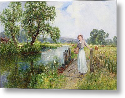 Summer Metal Print by Ernest Walbourn