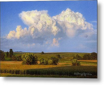 Summer Evening Formations Metal Print by Bruce Morrison